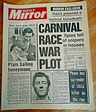1981 Newspaper England bt Austrailia Ashes Cricket Ian Botham 500/1 Comeback Old