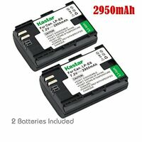 2x Kastar Battery for Canon LP-E6 EOS 6D 7D 7D Mark II 60D 60Da 70D 80D XC10