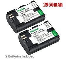 2x Kastar Battery for Canon LP-E6 EOS 6D 7D 7D Mark II 60D 60Da 70D 80D XC10