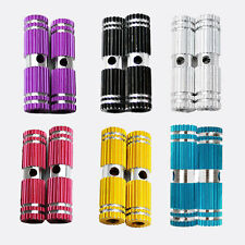 2 PCS Colorful Kid Alloy Bike Stunt Foot Pegs for Bike Bicycle BMX Fixie Axle