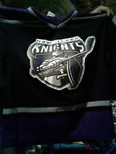 NEW HAVEN KNIGHTS PURPLE/BLACK YOUTH XL ATHLETIC KNITS JERSEY NICE HARD TO FIND