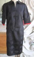 Vintage late 1950s Black Chinese Silk Suit