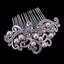 9x5cm Art Deco Vintage Perle Hochzeit Braut Haarschmuck Diademe Haarkamm