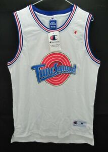 NWT Champion Size Medium Bugs #1 Tune Squad Jersey Basketball Space Jam