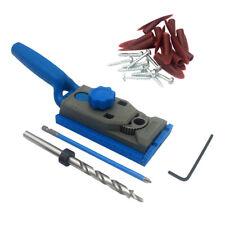 Mini Pocket Hole Drill Jig Kit W/ Step Drilling Bit Woodworking Accessories