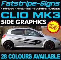 RENAULT CLIO MK3 GRAPHICS STRIPES STICKERS DECALS 1.2 1.4 1.5 1.6 2.0 SPORT D