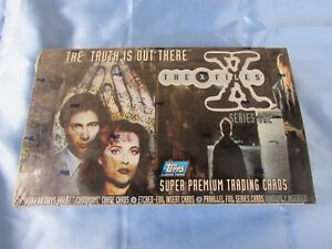 """X-FILES """"THE TRUTH IS OUT THERE"""" TRADING CARD - TOPPS FINEST FACTORY SEALED BOX"""