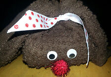 Decoration, Reindeer Christmas Washcloth - super cute or gift! Free Us Ship New