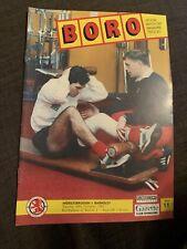 1991 Middlesbrough V Barnsley Football Programme LCUP