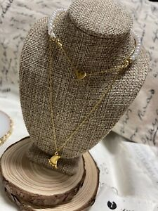 Necklace Doble X2219 Stainless Steel 🦶gold