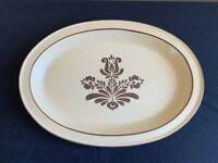 """Pfaltzgraff VILLAGE USA MARK 14"""" x 9-7/8"""" Oval Serving Platter; EUC!"""