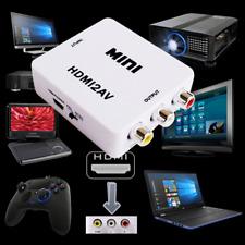 HDMI To AV RCA CVBS 1080P Composite Audio Video Adapter Converter Box Upscaler
