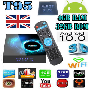 T95 Max Smart Tv Box 4GB+32GB (FULLY INSTALLED) Android 10.0 4K UHD WIFI NEW
