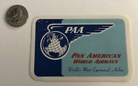 PAA Pan American World Airways Vintage Luggage Suitcase Sticker Decal Label