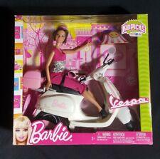 Mattel Barbie Teresa Vespa Doll & Vehicle w Barbie Doll & Vespa Scooter