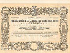 Co. Forges & Acieries de la Marine et Chemins de Fer SA, accion, 1899 (unissued)