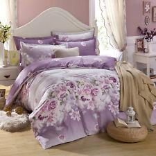 NEW Fashion 100% Cotton King Bed Size Quilt Doona Duvet Cover Pillowcase Set - L