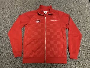 Soccer Canada Umbro Jacket Red Home Jersey Medium Sweater Shirt M Track Nike