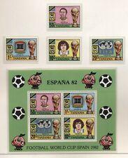 Tanzania 1982 mondiali di calcio in Spagna serie cpl e BF nuova integra MNH T618