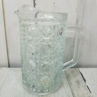Vintage Indiana Glass Clear Crystal Glass Pitcher Carafe Windsor Pattern 18oz