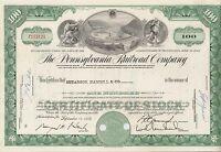 Pennsylvania Railroad Company share Eisenbahn hist. Aktie 1966 USA Philadelphia