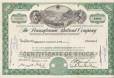 Pennsylvania Railroad Company share Eisenbahn hist. Aktie 1960 USA Philadelphia