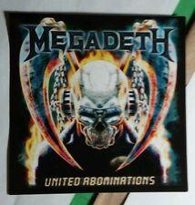Megadeth United Abominations Skull Reaper Music Sticker