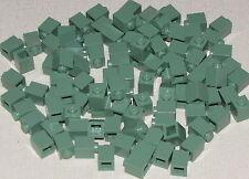 LEGO LOT OF 100 NEW SAND GREEN 1 X 1 BLOCKS BRICKS PIECES