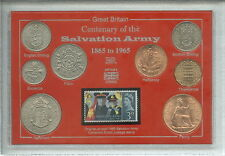 The Salvation Army Centenary Christian Church Charity Coin Stamp Gift Set 1965