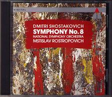 Mstislav ROSTROPOVICH: SHOSTAKOVICH Symphony No.8 NSO Teldec CD Schostakowitsch