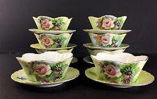 Vintage Lefton China Rose Ramekin and Under Plate Set of 8