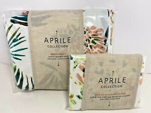 Anthropologie APRILE Collection QUEEN Floral Duvet Set 2 Standard Shams NWT