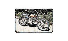 Bsa B44 Motorbike Sign Metal Retro Aged Aluminium Bike