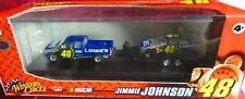 JIMMIE JOHNSON,164 ACTION-WINNERS CIRCLE, 2008 LOWE'S, #48, DUALLY AND RACE CAR