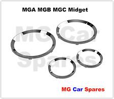 MGA MGB MGC MG MIdget Smiths Instrument Chrome Bezel Set