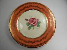 "Paragon Side Plate 7"". Large Big Pink Rose Gold Pattern Design Double Warrant"