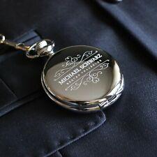 Taschenuhr mit Gravur Bester Trauzeuge | Farbe Silber
