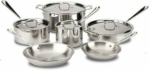 All-Clad D3 Stainless Steel 10-Pc Set, 401488 -  Brand New SEALED