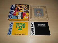 Tetris 2 II Complete Game Boy CIB Nintendo Original