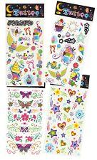 4er Set Kinder Tattoos Herzen Blumen Sterne Schmetterlinge Kindergeburtstag