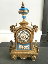 Antico vecchio Richard & Co Paris London FRANCESE SEVRES in bronzo dorato mantel clock 2525