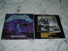 METALLICA Ride the Lightning '84 ORIG US MASTERDISK !! Promo!! SHRINK !! MINT !!