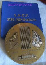 MED5471 - MEDAILLE SNCF GARE MONTPARNASSE 1970 par H. NAVARRE