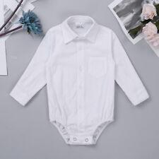 Infant Baby Boys Gentleman Shirt Romper Formal Bodysuit Wedding Birthday Party