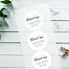 Personalised Stickers Wedding Adorable Throw Me Glossy White