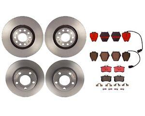 Brembo Front Rear Brake Kit Disc Rotors Ceramic Pads For Audi A6 Allroad Quattro