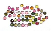 Natural Multi Tourmaline Gemstone Calibrated Size 2 To 5mm Round Cabochon Lot S1