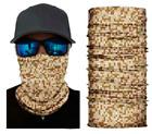 Neck Gaiter Face Mask Fishing Sun Headwear Protection Desert Digital Camo