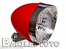 Fanale / Faro / Luce Anteriore Rosso 3 LED Bici Sport - City Bike - Fixed