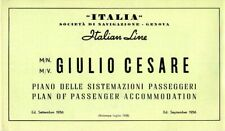 1956 Italian Line GIULIO CESARE Deck Plan Booklet - ANDREA DORIA Replacement